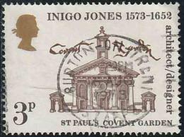 GB 1973 Yv. N°692 - Inigo Jones - 3p Jardin Du Couvent De Saint-Paul - Oblitéré - 1902-1951 (Re)