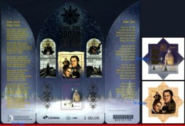 Ref. BR-V2018-16-3 BRAZIL 2018 - CHRISTMAS, 200 YEARS OF �SILENT, NIGHT� SONG, SET AND S/S MNH,4V - Noël