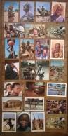 Lot De 25 Cartes Postales / Personnages D' AFRIQUE /c - Postcards