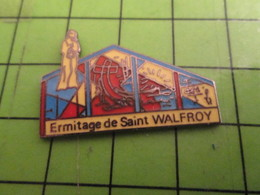 512e Pins Pin's / Rare & De Belle Qualité  THEME : VILLES / VITRAUX ? ERMITAGE DE SAINT WALFROY-DE-CANARD - Villes