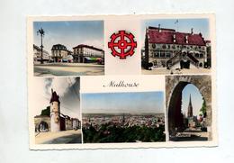 Carte Mulhouse Multi-vue Cachet Foire 1956 Sur Carré Ordre De Malte - Mulhouse