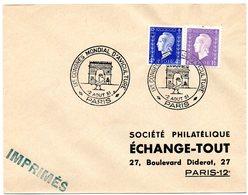 PARIS 1951 = CACHET GRAND FORMAT Illustré D'un COQ + ARC De TRIOMPHE = CONGRES AVICULTURE - Marcofilia (sobres)