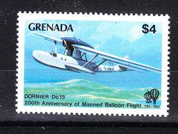 Grenada - 1983. Idrovolante Dornier. Alto Valore Della Serie. High Value Of The Set. MNH - Aerei