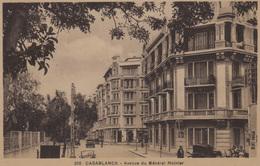Maroc  -Casablanca  Lot De 2 CPA :  Ave Du Général Moinier  Et Quartier Jardin Public   Voir Les 2 Scans - Rabat