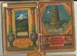 CALENDARIETTO DA BARBIERE  ANNO 1927- CURIOSITA' ORIENTALI - Formato Piccolo : 1921-40