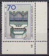 BERLIN 462 DD, Eckrand Mit Formnummer 2, Postfrisch **, Doppeldruck, Wohlfahrt: Orgel 1973 - [5] Berlin