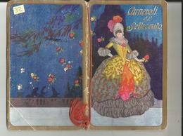 CALENDARIETTO DA BARBIERE  ANNO 1924 - CARNEVALI DEL SETTECENTO - Petit Format : 1921-40