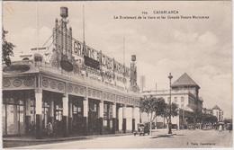 Maroc  - Casablanca  Lot De 2 CPA :  Ave Du Général Moinier  Et Bd De La Gare Grands Bazars   Voir Les 2 Scans - Rabat