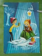 KOV 8-49 - NEW YEAR, BONNE ANNEE, SLEIGH, TRAINEAU, Children, Enfants - Nouvel An