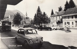 Postcard SKOFJA LOKA Slovenia Slovenija Yugoslavia Car Cars Fiat 600 Zastava 750 Fica1965 - Slovénie