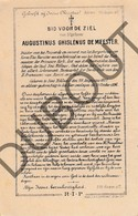 Doodsprentje Augustinus Ghislenus De Meester °1827 Sint Niklaas †1896  (F253) - Obituary Notices