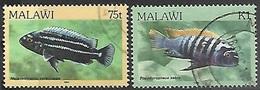 Malawi 1984  Sc#438-9   75t & K1  Fish  Used  2016 Scott Value $8.50 - Malawi (1964-...)