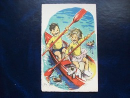 """Carte Postale Ancienne Signée Germaine Bouret: """" Y'a Pas Que Les Canards..."""" - Bouret, Germaine"""