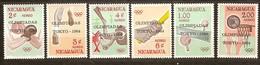 Nicaragua 1964 Yvertn° PA LP 522-527 *** MNH Cote 12 Euro Sport Jeux Olympiques  De Tokyo - Nicaragua