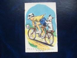 """Carte Postale Ancienne Signée Germaine Bouret: """" T'en As De La Chance..."""" - Bouret, Germaine"""