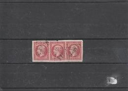 France Bande De 3 Du N°24 Sur Fragment - 1853-1860 Napoleon III