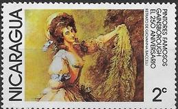 NICARAGUA 1978 Paintings - 2c - Giovanna Bacelli (Gainsborough) MH - Nicaragua