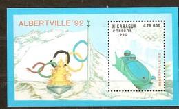 Nicaragua 1990 Yvertn° Bloc 198 *** MNH Cote 5,50 Euro Sport Jeux Olympiques D' Hiver Albertville - Nicaragua