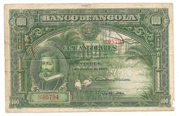 Très Rare Billet De Cem Angolares (100) ANGOLA 1927 - Angola
