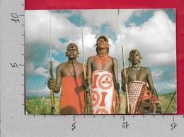 CARTOLINA VG KENYA - Samburu Warriors - 10 X 15 - ANN. 1980 - Kenia