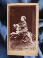 Photo CDV Mme Rozier à Crest - Petit Garçon (Pierre Peyrot) Sur Un Cheval Tricycle Datée 1880 L409 - Anciennes (Av. 1900)