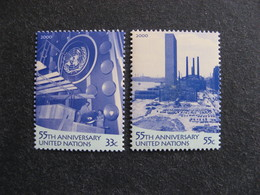 O.N.U. Siège De New-York: TB Paire N° 821 Et N° 822, Neufs XX. - New-York - Siège De L'ONU