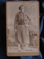 Photo CDV Anonyme - Militaire Tirailleur Algérien En Pied (augustin Delaye) Datée Mai 1896 L409 - Anciennes (Av. 1900)
