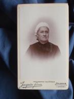 Photo CDV Jacquin à Valence - Portrait Nuage Femme à La Coiffe Blanche Circa 1900 L409 - Anciennes (Av. 1900)