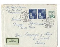 21170 - Christkindl 1954 Lettre / Cover 16.12.1954  Pour  Langnau Bei Zürich + Vignette Über Christkindl - Noël
