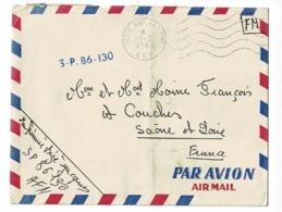 """Griffe Linéaire """" S.P.86.130"""" Circulé En FM En 1961(Poste Aux Armées) Sur Enveloppe - Storia Postale"""