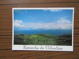 Espagne                 Estrecho De Gibraltar      Détroit         Joli Timbre                    Carte 16x 11 - Espagne