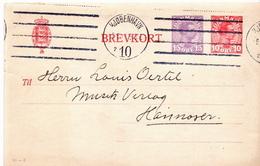 Postal History: Denmark Postal Stationery Card And 2 More Items For Sutija - Postal Stationery