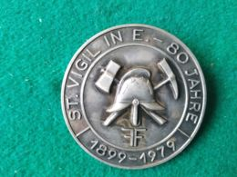 Spilla 80° Vigili Del Fuoco St. Vigil. In E. 1899/1979 - Italy