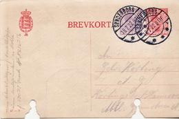 Postal History: Denmark Postal Stationery Card, Damaged - Postal Stationery