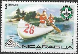 NICARAGUA 1975 Nordjamb 75 World Scout Jamboree, Norway - 2c - Scout Canoe MH - Nicaragua