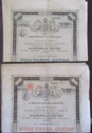Emprunt Hongrois - Environ 10 Obligations De 100 Et 500 Florins Or - Vers 1920 - Actions & Titres