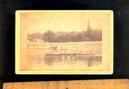 Photographie Cabinet : Aviron  (sur La Saône Entre Lyon Et Neuville)  Rowing - Sport