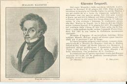 ITALIANI ILLUSTRI- GIACOMO LEOPARDI POETA  -FP - Other Famous People