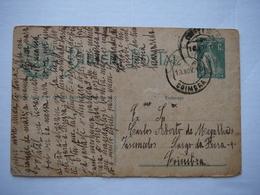 Entier Du Portugal 1c 1916 - Braga -> Coimbra - Postwaardestukken