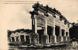 CHINE - PORTE D'HONNEUR AUX TOMBEAUX DE L'OUEST SI-LING PRES PEKIN - Chine