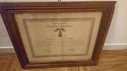 BREVET MEDAILLE MILITAIRE 1928 CHAVANNE PIERRE NE ST GERMAIN LAVAL 1885 LOIRE - 121 EME RI - Documents