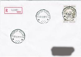 """Belgique (R) - Oblitération Cachets """"à étoiles"""" - Gendron-Celles 09 Mai 90 - Marcophilie"""