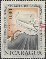 NICARAGUA 1963 Air. Death Tercentenary St. Vincent De Paul & St. Louise De Marillac -  60c. Comfort FU - Nicaragua