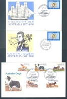 AUSTRALIA  - 15 FDC'S - 1980 - COMPLETE SET YEAR 1980  - Yv 688-725 MINISHEET 7 COVER 136-149 - Lot 18684 - Premiers Jours (FDC)