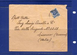 ##(ROYBOX1)-Postal History-Palestine 1922-  Cover From  Jerusalem  To  Livorno - Italy - Palestine