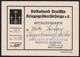 C0284 - TOP - Langenbernsdorf - Volksbund Deutsche Kriegsgräberfürsorge Mitgliedskarte Ausweis Dokument - Documents Historiques