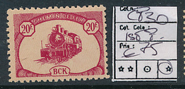 BELGIAN CONGO BCK PRIVATE RAILWAY COMPANY COB CP30 LH FIRST PRINTING - Autres