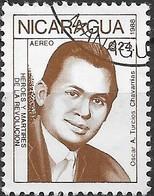 NICARAGUA 1988 Revolutionaries - 24cor. Oscar A. Turcios Chavarrias FU - Nicaragua