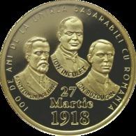 ROMANIA -2018-  50 BANI - COMMEMORATIVE COINS - 100 Years Since The Union Of Bessarabia With Romania PROOF (Rare) - Romania