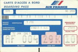 AIR FRANCE - Carte D'Embarquement/Boarding Pass - 1991 - LOS ANGELES / PARIS CDG - Boarding Passes